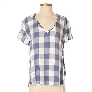 Anthropologie | Cloth & Stone Blue Gingham Tee